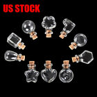 Clear Essential Tiny Oil Bottle Pendant Charm Drop For Jewelry NNecklace Accs