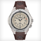 Timex Men's T479029J Expedition Easy Set Alarm Brown Leather Strap Watch