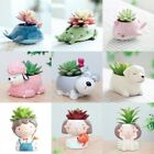 US Succulent Planter Mini Resin Flower Pot Cactus Bonsai Flowerpot Basket Decor