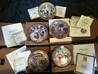 5 German Collector Christmas Plates Artist Hedi Keller Nativity holiday 1979 82