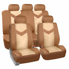 Synthetic Leather Full Set Auto Seat Covers For Auto Car Suv Van Sedan Full Set