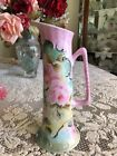 Shabby Chic Vtg Antique Style Pitcher Handpainted Porcelain