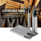 Leather Craft Tool 9pcs 2mm Oval Shape Hole Punch Kit Cutter Hollow DIY Tool Set