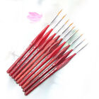 6 PCS Detail Paint Brush Acrylic Oil Artist Watercolor Painting Brushes Supplies