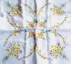 Vintage Hand Embroidered White Cotton