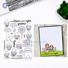 GARDEN GNOMES Transparent Clear Silicone Stamp for DIY Scrapbooking Photo Album