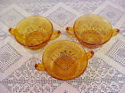 Soup Bowls Indiana Glass Amber Gold 620 Circa 1960-1970 Lot of 3 Vintage