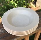 4 Vintage Anchor Hocking USA Beige Speckled Ironstone Bowls Windmill Soup Cereal
