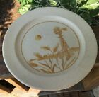 4 Vintage Anchor Hocking USA Ironstone Windmill Dinner Plates Beige Speckled