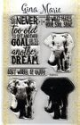Gina Marie clear unmounted cling stamp set Layered elephant