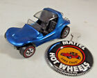 Vintage Hot Wheels Redline Sand Crab Windey Blue Car w Button 1969 Nice