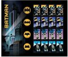 Batman 75th Anniversary, Full Sheet of 20 Forever Stamps USPS Comics