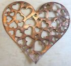 Hearts within Heart Wall Metal Art with Rustic Copper Finish Hanging