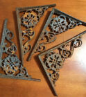 Cast Iron Ornate Scrolled Vintage Shelf Supports/Brackets Set/4-SHIPS FREE