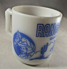 Vintage Hazel-Atlas Ranger Joe Ranch Mug Milk Glass w Free Shipping
