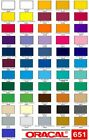 12 Oracal 651 Vinyl 5 ft long Choose any color