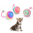 cat kitten dog pet colorful bell nylon ball playing toys gift chew squeaky toyHV