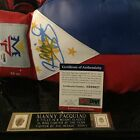 Signed MANNY PACQUIAO Boxing Gloves PSA COA in Display Case