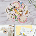 45x lot DIY Cute Kawaii Cat Rabbit Fox Sticker Lovely Animal Diary Stickers HV