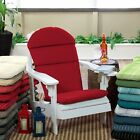 Premium Acrylic Outdoor Living Adirondack Chair Cushion Pad Hinged Seat Back