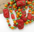 Vintage Czech MAX NEIGER Colorful Art Deco Glass Bead Necklace with elephants