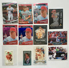 Lot 12 Mike Trout Cards W Inserts Blue Refractor 149 + Non Auto Mini Angels