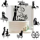 US Mr Mrs Heart Wedding Proposal Party Bride Groom Cake Topper Silhouette Supply