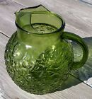 Vintage Avocado Green Ball Pitcher Anchor Hocking Lido