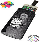 Stand Up For Dogs Puppy Animals Rights - Universal Leather Phone Case Cover