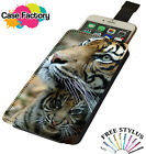Tiger Mother And Cub Wild nature - Universal Leather Phone Case Cover