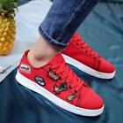 Embroidery Men Lace Up Summer Sneakers Floral Casual Canvas Board Sport lit01