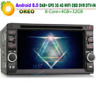 Doppel Din Car DVD Autoradio GPS Android 8.0 Oreo CD Sat Nav DAB+Wifi for Nissan
