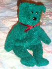 TY BEANIE BABY BEAR - 2001 HOLIDAY TEDDY - W/ PROTECTED TAG IN EXCELLENT CONDITI