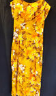Hawaiian Togs Dress Vtg Brown Orange Yellows Elegant Classy Sz 12