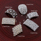 120pcs Metal Rhinestone Buttons Bling Alloy Crystal Flatback Buttons for Wedding