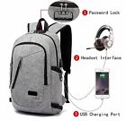 Anti Theft Laptop Backpack Business Travel Slim Durable Laptops Backpck w/ USB