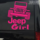 Jeep Girl Slanted Jeep Text under decal sticker