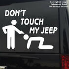 Jeep Dont Touch My Jeep Logo tag sticker decal