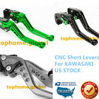 For Kawasaki Ninja 250/300/650/1000 Z125 ZX6R Z1000 Z750R Clutch Brake Levers US