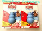 Kong Puppy Rubber Treat Chew Dog Toy extra small BLUE New TWO toys