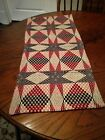 ~*Primitive Colonial Early Style~American Star~Short Table Runner~Blue~SALE*~