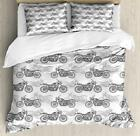 Motorcycle Duvet Cover Set Twin Queen King Sizes with Pillow Shams Bedding
