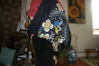 Vera Braldey Over the Shoulder Laundry Bag in Blue and Yellow Patern