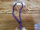 Gorgeous Handcrafted 17 Purple Beaded Necklace with 225 Flower Glass Pendant