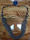 Gorgeous Handcrafted 40 Multi string Brown tone Glass Beaded Necklace