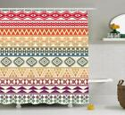 Aztec Shower Curtain Fabric Bathroom Decor Set with Hooks 4 Sizes