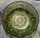 Mint Avocado Green Pressed Glass Serving Bowl Star and Cameo Anchor Hocking 8