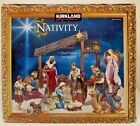 RARE STUNNING Kirkland Signature LARGE 13 PC Nativity Set w Wood Creche 634280