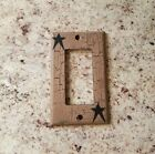 Black Star GFI outlet Switch Plate ~ Country Decor