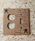 Black Star double Switch Plate ~ Country Decor